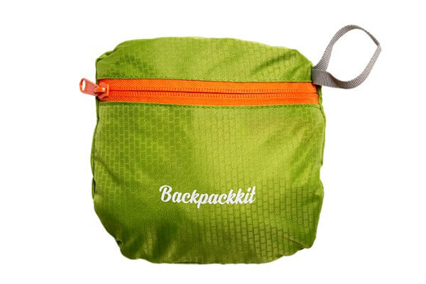 Backpackkit daypack ingepakt