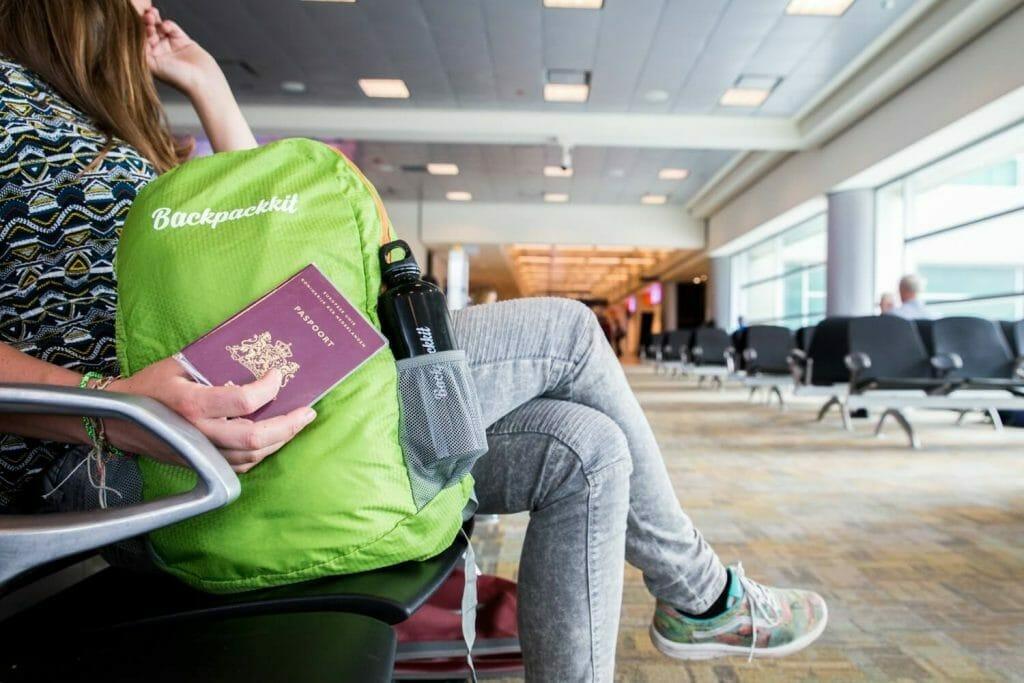 Backpackit daypack vliegveld