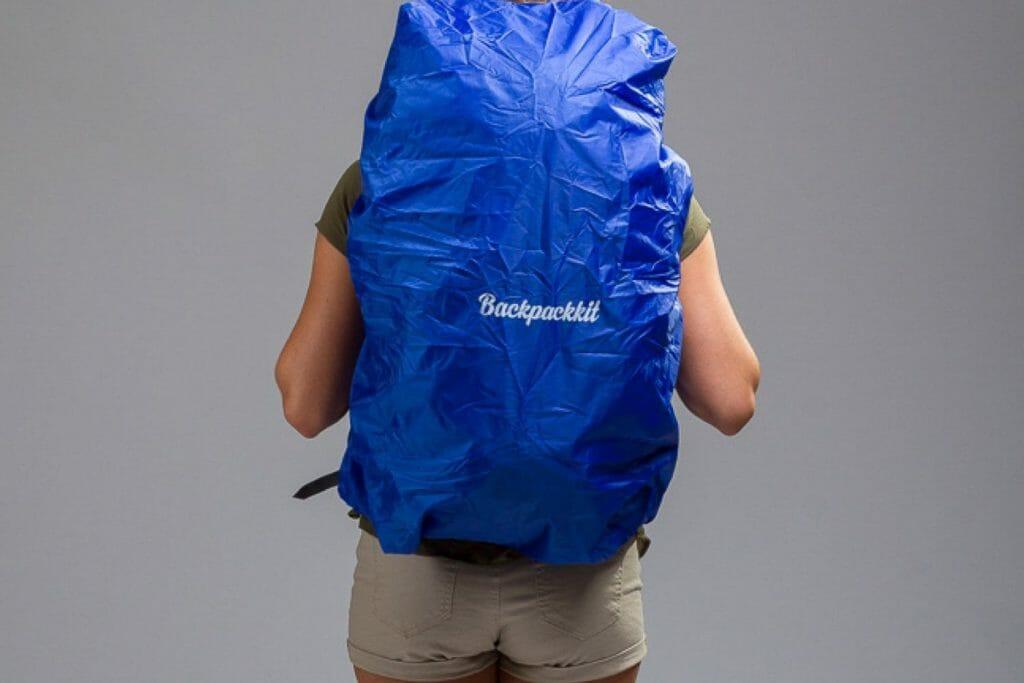 Backpackkit regenhoes backpack achterkant