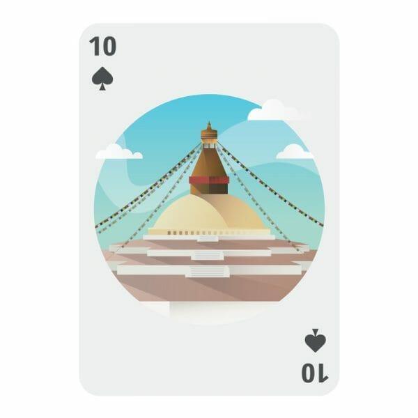 Bucket list speelkaarten schoppen 10
