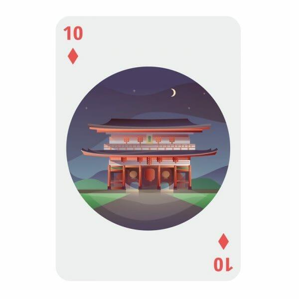 Bucket list speelkaarten ruiten 10