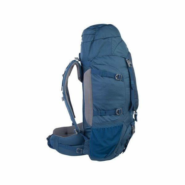 Backpackkit nomad batura backpack 55 Liter blauw zijkant