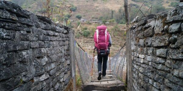 Backpacken in Nepal brug