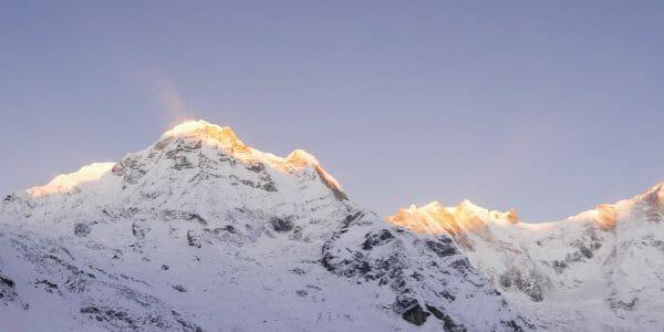Backpacken in Nepal zonsopkomst