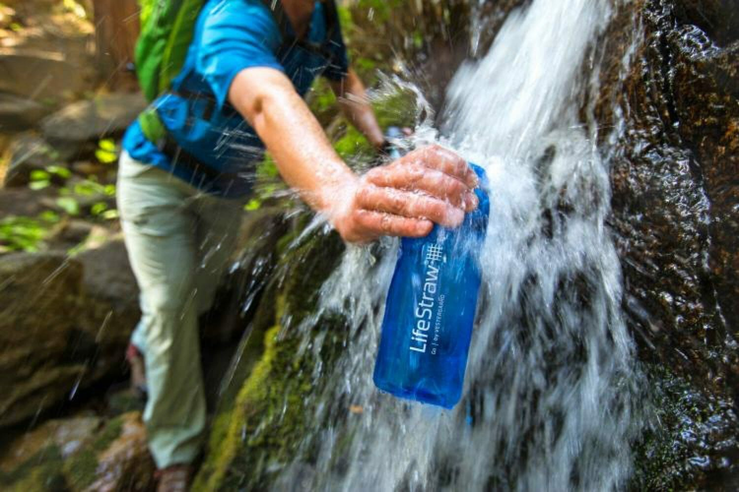 Lifestraw Go 2-stage waterfilter backpacken waterval